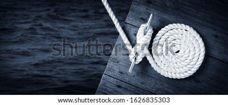 wooden mooring in the water Stock photo © compuinfoto