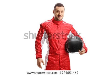 portret · wesoły · młody · człowiek · odizolowany · czerwony - zdjęcia stock © elnur