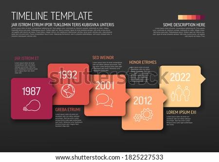 wektora · kolorowy · timeline · sprawozdanie · szablon - zdjęcia stock © orson