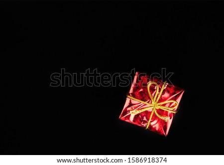 Feestelijk geschenkdoos geïsoleerd witte achtergrond groene Stockfoto © natika