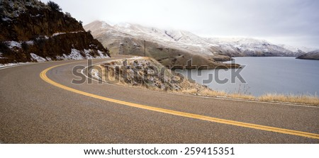 boise basin snake river canyon cold frozen snow winter landscape stock photo © cboswell