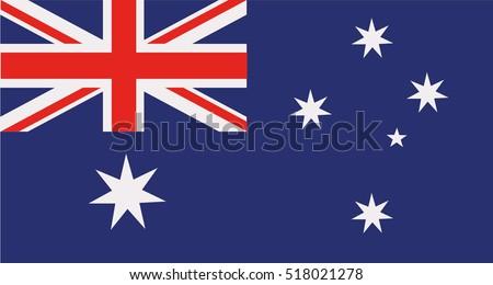 Zászló Ausztrália háttér felirat utazás piros Stock fotó © olgaaltunina