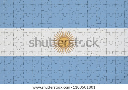 Argentina and Argentina Flags in puzzle Stock photo © Istanbul2009