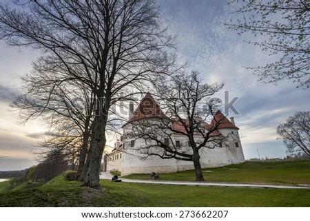 Hdr görüntü kale Letonya gün batımı zaman Stok fotoğraf © 5xinc