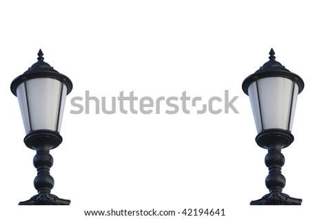 elegant pair over a night city background stock photo © konradbak