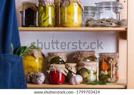 Marinado legumes comida madeira salada Foto stock © Digifoodstock