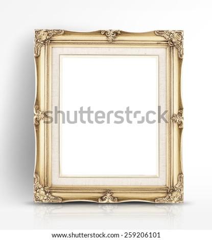 Blank picture frames. Website background template. Golden rectan Stock photo © djmilic