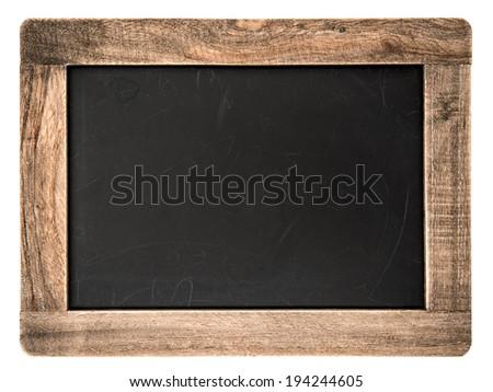 blackboard background in wood frame blank chalkboard wall scho stock photo © vladimirs