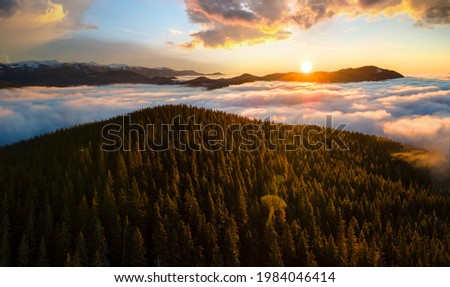 Sabah sis kapalı tepeler dramatik Stok fotoğraf © Leonidtit