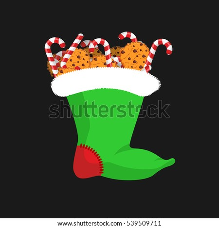 Karácsony harisnya cukorka sétapálca menta bot Stock fotó © popaukropa