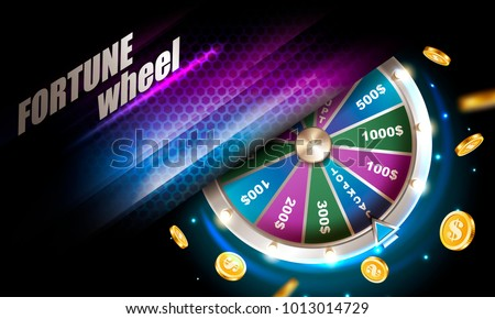 Fortune Wheel Poster Vector. Spinning Lucky Roulette. Prize Concept Background. Casino Club Illustra Stock photo © pikepicture