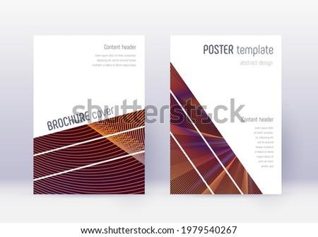 輝かしい 赤 ビジネス パンフレット プレゼンテーション テンプレート ストックフォト © SArts