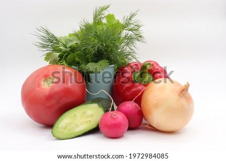 całość · owoców · niebieski · przestrzeni · tekst - zdjęcia stock © artjazz
