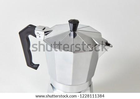 Metaal geiser koffiezetapparaat grijs traditioneel Stockfoto © artjazz