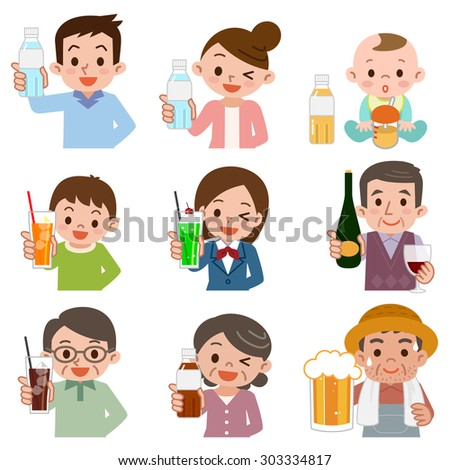 happy young multiethnic friends holding soda drinking in park outdoors stock photo © deandrobot