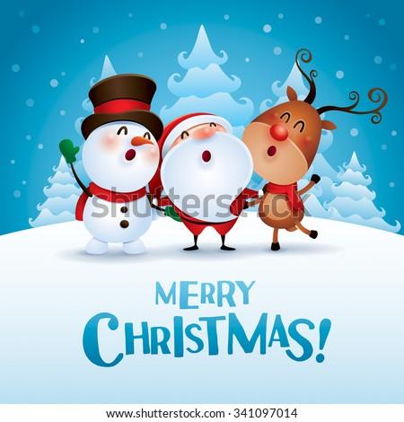 陽気な クリスマス 雪だるま 雪 シーン ストックフォト © ori-artiste