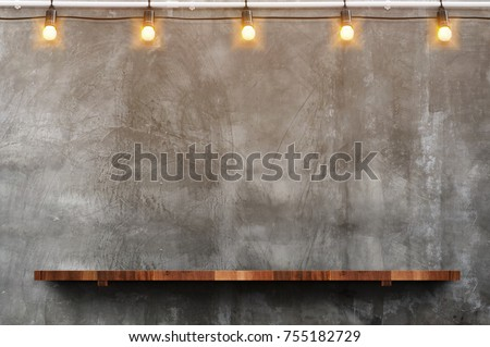 Room perspective,grunge grey concrete wall and wooden plank grou. stock photo © ivo_13