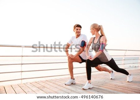 спортивный вместе молодые пару Сток-фото © boggy