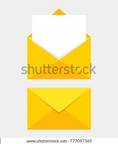 Icona chiuso mail busta numero due Foto d'archivio © kyryloff