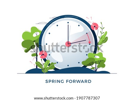 Daylight saving time concept. Alarm clock isolated on white back Stock photo © Nobilior