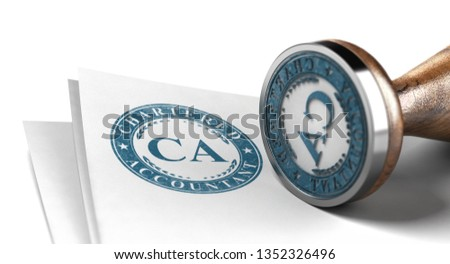 Chartered Stamp Printed on a Sheet of Paper Over White Backgroun Stock photo © olivier_le_moal