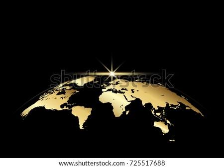 Vetor planeta terra nascer do sol espaço isolado transparente Foto stock © Iaroslava
