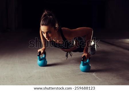 2 魅力的な 小さな 筋肉の 女性 アスレチック ストックフォト © Freedomz
