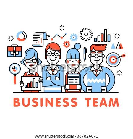 Ufficio obiettivo vendite business vettore arte Foto d'archivio © vector1st
