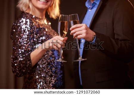 Beautiful women holding glasses with champagne celebrating Chris Stock photo © Freedomz