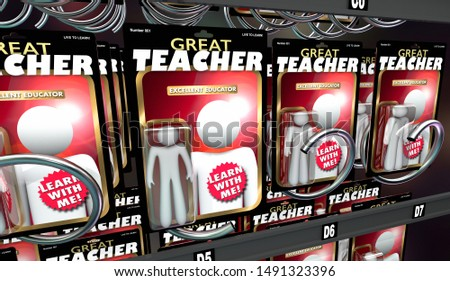 Great Teacher Educator Learn With Me Action Figures 3d Illustration Stock photo © iqoncept