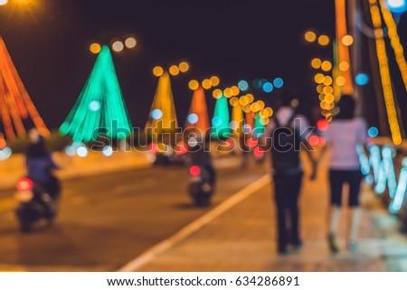 Drukke verkeer brug nacht Stockfoto © galitskaya