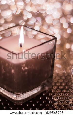 Aromás gyertya arany karácsony új évek Stock fotó © Anneleven