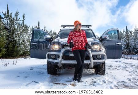 Rural invierno escénico paisaje mundo maravilloso campos Foto stock © lovleah