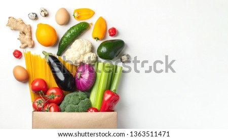 Banner of Mix salads. Vegan, vegetarian, clean eating, dieting, food concept. Stock photo © Illia