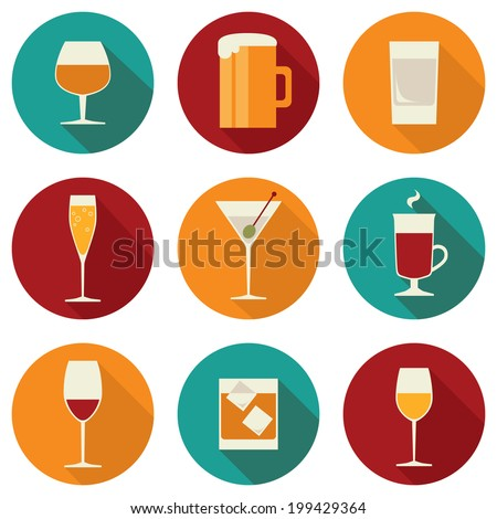 Copo de vinho ícone sombra bege beber vinho Foto stock © Imaagio