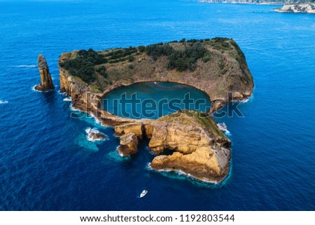 Islet of Vila Franca do Campo Stock photo © hsfelix