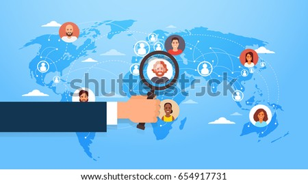Businessperson Person Holding Magnifying Glass Stock photo © AndreyPopov