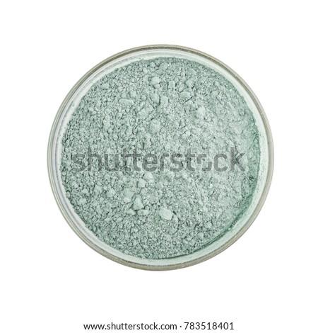 Argile bol blanche poudre isolé vecteur Photo stock © Lady-Luck