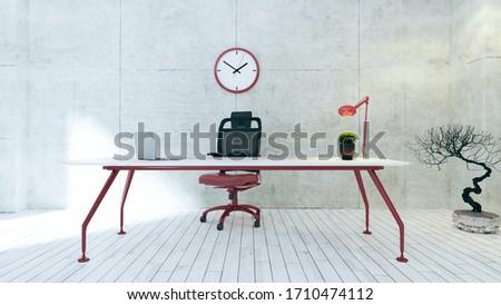 Workspace красный таблице конкретные стены служба Сток-фото © sedatseven