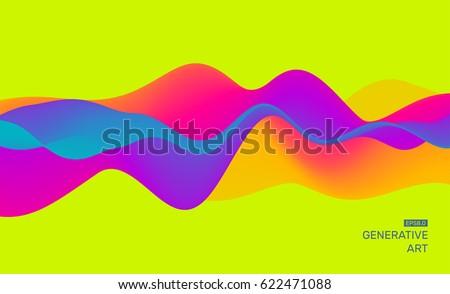 Bewegende kleurrijk abstract dynamisch effect ontwerpsjabloon Stockfoto © fresh_5265954