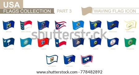 Vetor conjunto bandeiras americano Vermont diferente Foto stock © butenkow