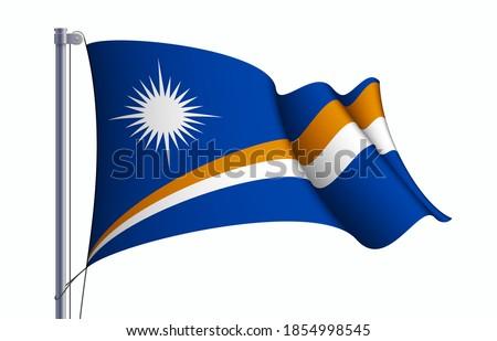 Szigetek zászló fehér terv világ háttér Stock fotó © butenkow