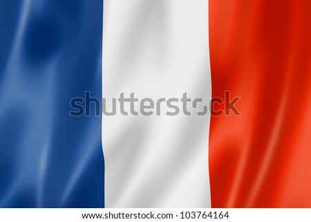 3D rendering of the national flag of France waving in the wind Stock photo © butenkow