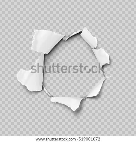 Papír lyuk valósághű vektor szakadt papír kár Stock fotó © designer_things