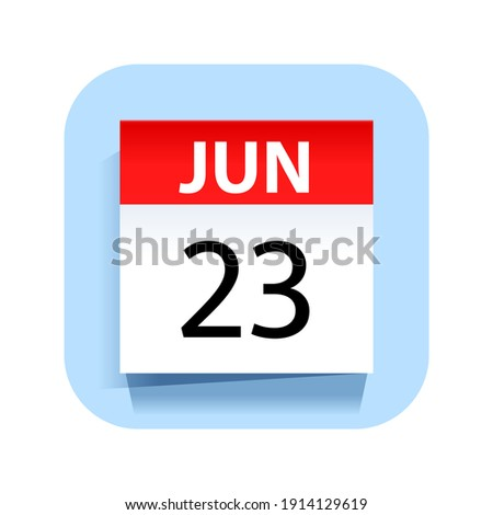 Simple black calendar icon with 23 june date isolated on white Stock photo © evgeny89
