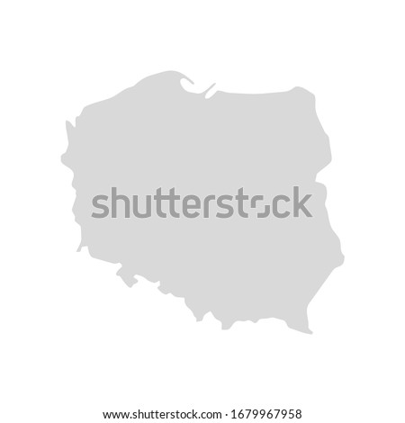 Polônia país silhueta bandeira isolado branco Foto stock © evgeny89