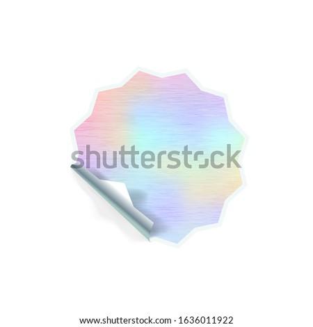 Fényes trendi matrica bonyolult forma hologram Stock fotó © evgeny89
