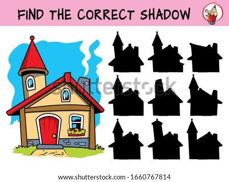 Cartoon иллюстрация образование тень согласование игры Сток-фото © natali_brill