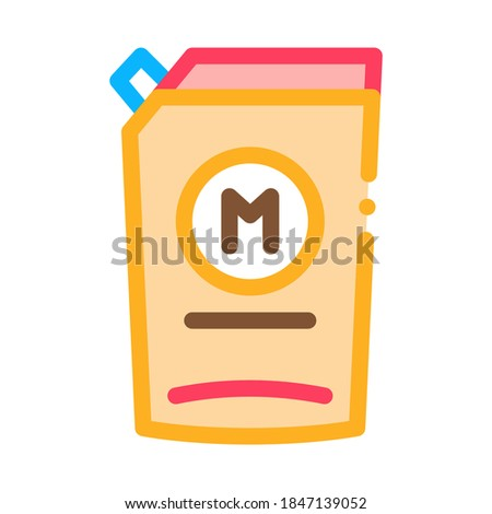 pack of mayonnaise with dispenser icon vector outline illustration Stock photo © pikepicture