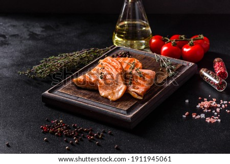 Grilled steaks of Arctic char  Stock photo © Alex9500